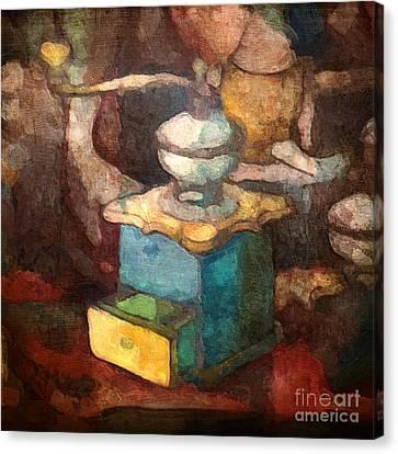 Old Coffee Grinder Canvas Print by Lutz Baar