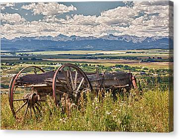 Old Country Wagon Mountains Canvas Print by Rob Moses