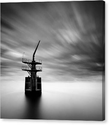 Old Crane Canvas Print by Dave Bowman