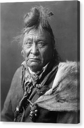 Old Crow Man Circa 1908 Canvas Print by Aged Pixel