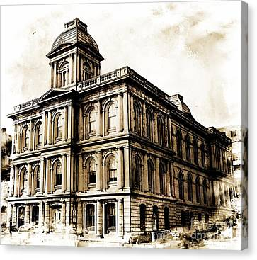 Old Custom House Canvas Print by Marcia Lee Jones