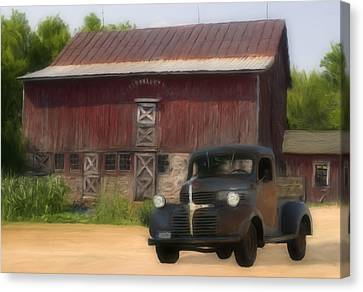 Old Dodge Truck Canvas Print by Jack Zulli