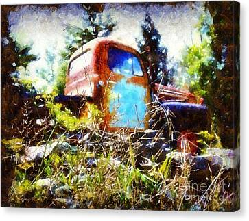 Old Dodge Truck Canvas Print by Janine Riley