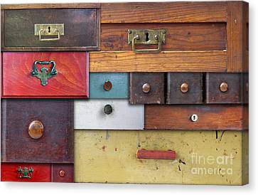 Old Drawers - In Utter Secrecy Canvas Print by Michal Boubin