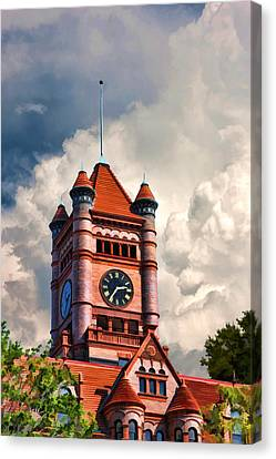 Old Dupage County Courthouse Clouds Canvas Print by Christopher Arndt