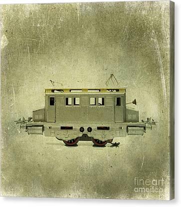 Old Electric Train Canvas Print by Bernard Jaubert