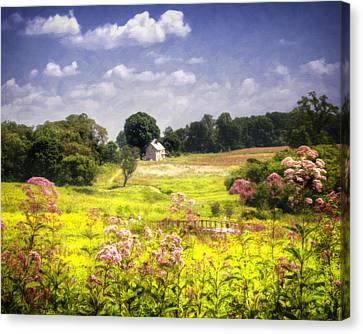 Old Farmhouse At Longwood Gardens Canvas Print by Vicki Jauron