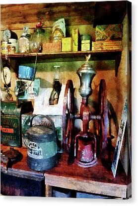 Old-fashioned Coffee Grinder Canvas Print by Susan Savad