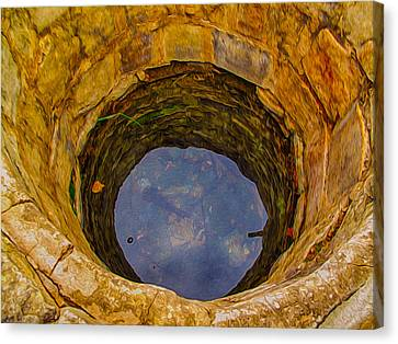 Old Fashioned Well Abstract Canvas Print by Omaste Witkowski