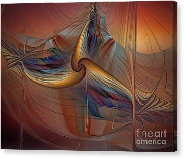 Old-fashionened Swing Boat In The Afterglow Canvas Print by Karin Kuhlmann