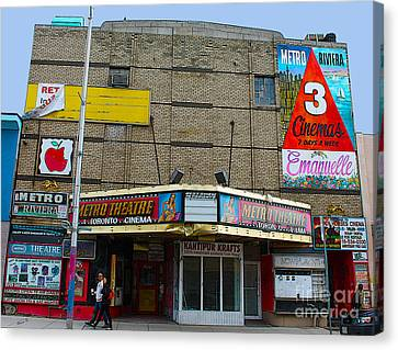 Old Film Theatre In Decay Canvas Print by Nina Silver