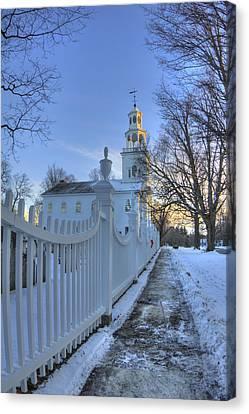 Old First Church - Bennington Vermont Canvas Print by Joann Vitali