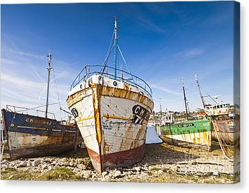 Old Fishing Boats Camaret-sur-mer Brittany France Canvas Print by Colin and Linda McKie