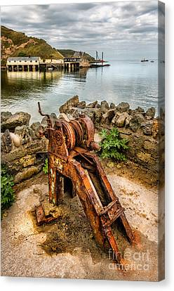Old Fishing Port Canvas Print by Adrian Evans