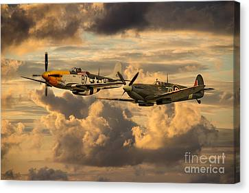 Old Flying Machines  Canvas Print by J Biggadike