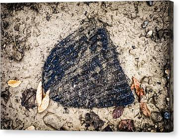 Old Forgotten Wool Cap Lying On The Ground Canvas Print by Matthias Hauser