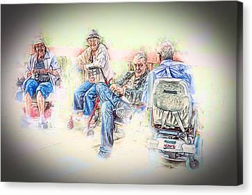 Old Friends Canvas Print by John Haldane