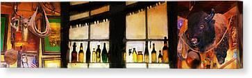 Old Genoa Bar Canvas Print by Ron Regalado