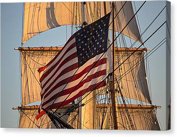Old Glory Canvas Print by Peter Tellone