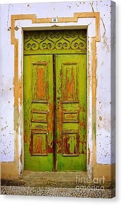 Old Green Door Canvas Print by Carlos Caetano