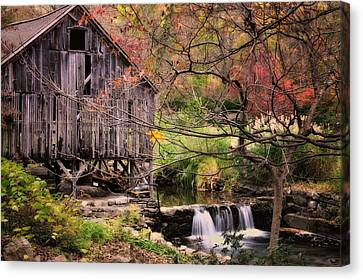 Old Grist Mill - Kent Connecticut Canvas Print by Thomas Schoeller