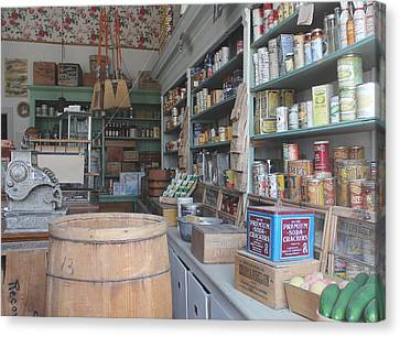 Old Grocery Store Canvas Print by Mark Eisenbeil
