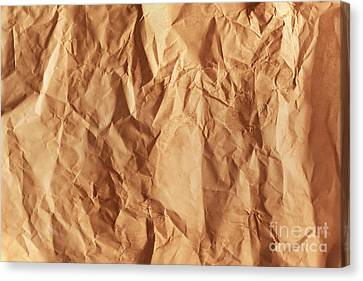 Old Grunge Creased Paper Texture. Retro Vintage Background Canvas Print by Michal Bednarek