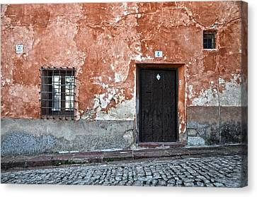 Old House Over Cobbled Ground Canvas Print by RicardMN Photography