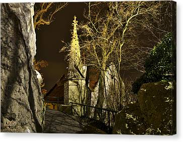 Old House With Tower Canvas Print by Ivan Slosar