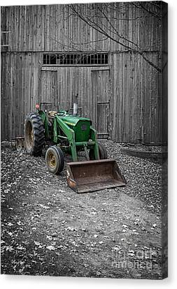 Old John Deere Tractor Canvas Print by Edward Fielding