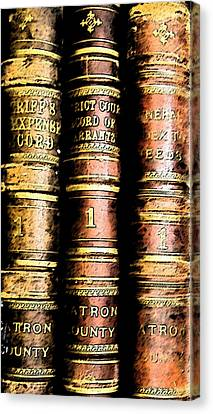 Old Ledgers Canvas Print by Lovina Wright