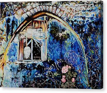 Old Man And Roses Hazaken Veshoshanim Canvas Print by Nekoda  Singer