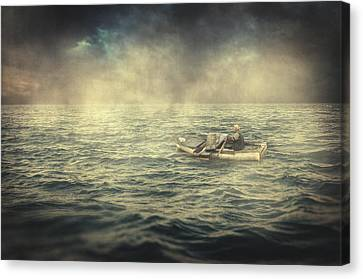 Old Man And The Sea Canvas Print by Taylan Soyturk