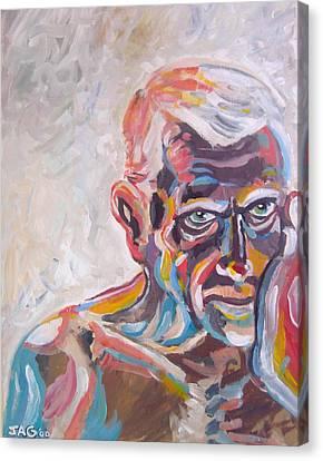 Old Man In Time Canvas Print by John Ashton Golden
