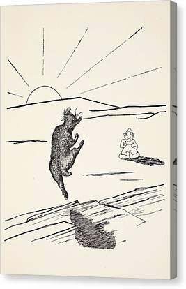 Old Man Kangaroo Canvas Print by Rudyard Kipling