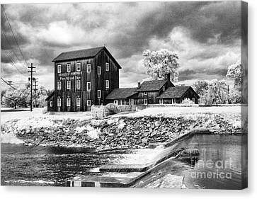 Old Mill In Frankenmuth Canvas Print by Jeff Holbrook