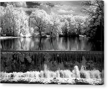 Old Mill Pond In Infrared Canvas Print by Paul W Faust -  Impressions of Light