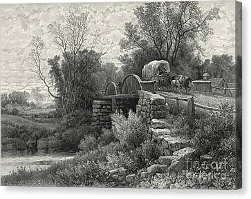 Old Mill Stream 1883 Canvas Print by Padre Art