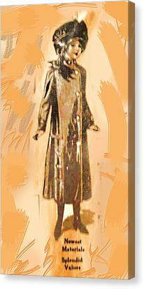 Old Newspaper Child Canvas Print by Linda Phelps