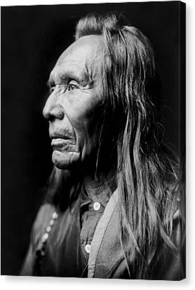 Old Nez Perce Man Circa 1910 Canvas Print by Aged Pixel