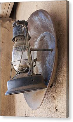 Old Oil Lamp With Reflector Canvas Print by Science Photo Library