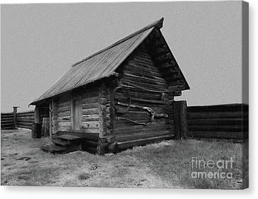 Old Peasant House 2 Canvas Print by Evgeniy Lankin