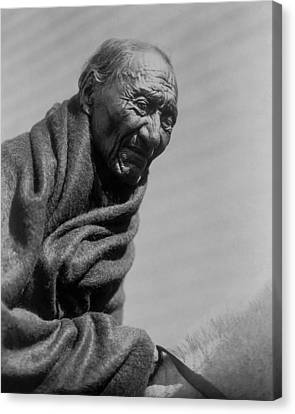 Old Piegan Man Circa 1910 Canvas Print by Aged Pixel