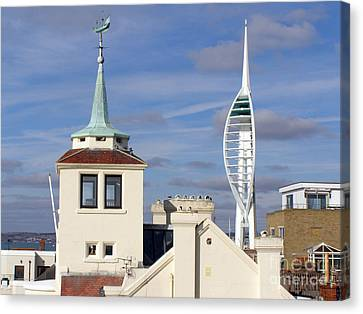 Old Portsmouth's Towers Canvas Print by Terri Waters