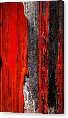 Old Red Barn Four Canvas Print by Bob Orsillo