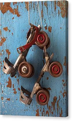 Old Roller Skates Canvas Print by Garry Gay
