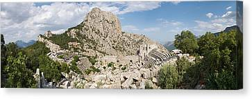 Old Ruins Of An Amphitheater Canvas Print by Panoramic Images