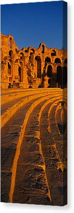 Old Ruins Of An Amphitheater, Roman Canvas Print by Panoramic Images