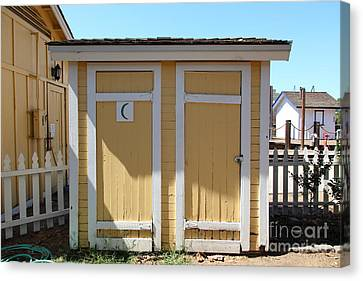Old Sacramento California Schoolhouse Outhouse 5d25549 Canvas Print by Wingsdomain Art and Photography