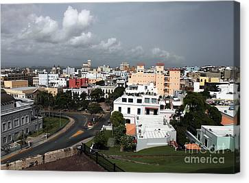 Old San Juan Canvas Print by John Rizzuto